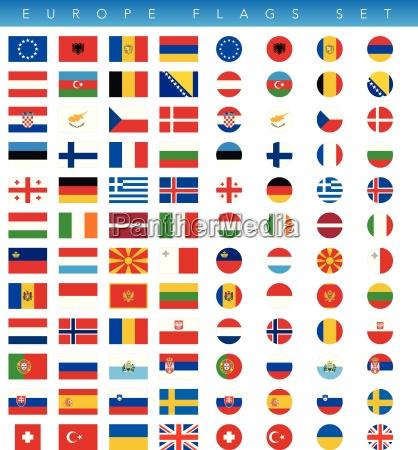 set di bandiere europa