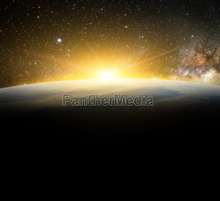 spazio universo alba via lattea galassia
