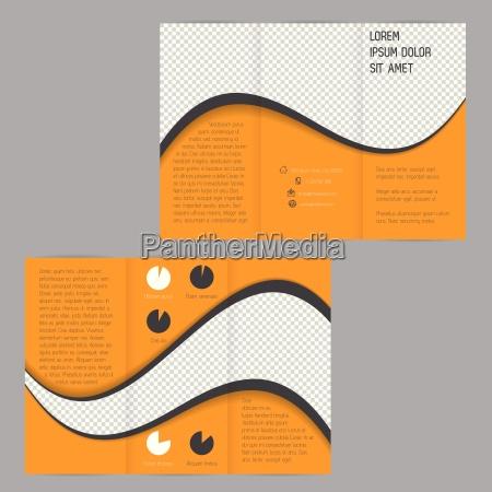 modello dellopuscolo di volantino tri fold