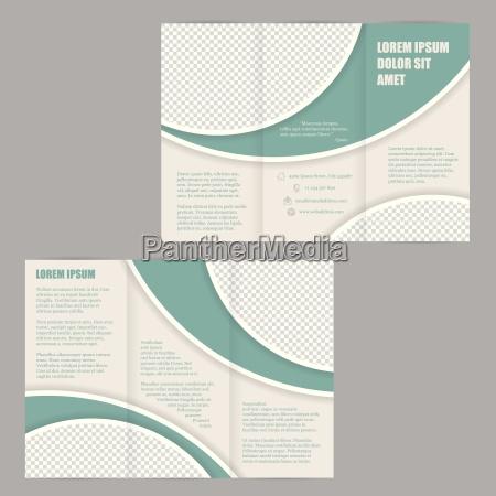 tri fold brochure design template volantino