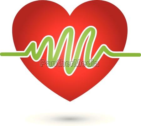 logo di battito cardiaco cuore medicina