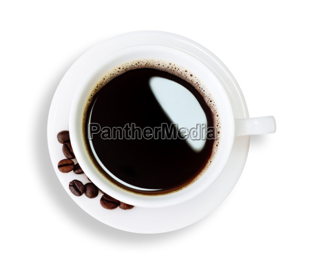 hot coffee isolated clipping path inside