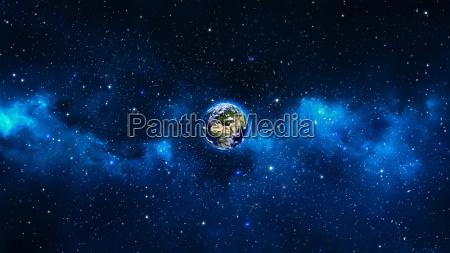 pianeta terra con sole nelluniverso o
