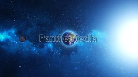 blu spazio universo globo terra pianeta