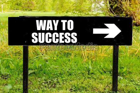 modo a successo scritto sul segno