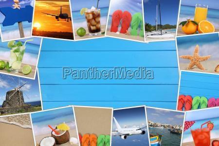 telaio di foto della vacanza con