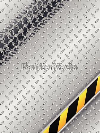 design industriale astratto con pista di
