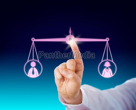 mantenere una femmina e maschio lavoratore