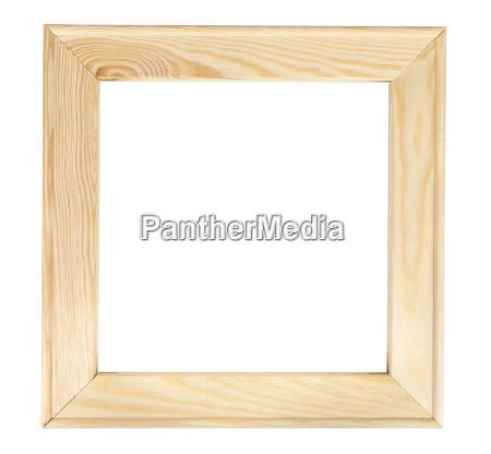 cornice di legno quadrata su backround