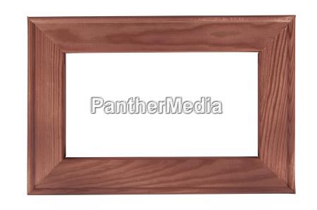 cornice di legno scura su backround