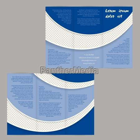 tri fold opuscolo modello volantino con