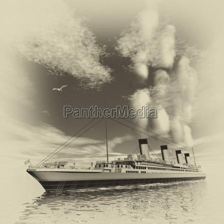 nave titanic rendering 3d