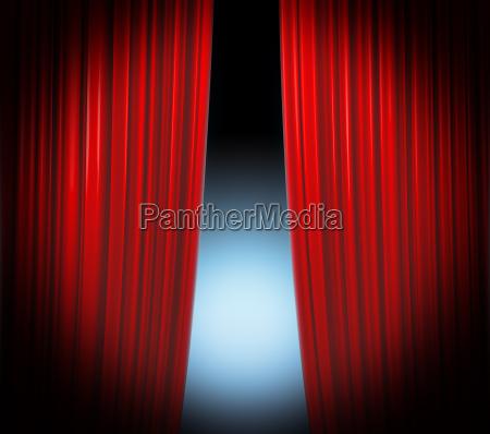 presentazione palco aperto pallido fondale di