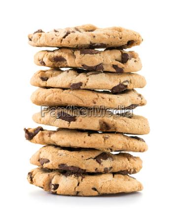 rilasciato appartato pila biscotti isolato dolci