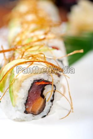 selezione di assortimento combinazione di sushi