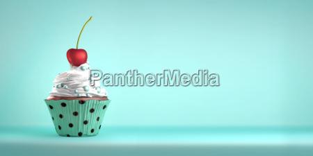 cupcake sormontato da una ciliegia e