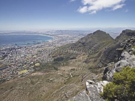 protetto riparato citta porto sudafrica montagna