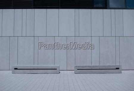 ufficio architettonico interno moderno panchine muro
