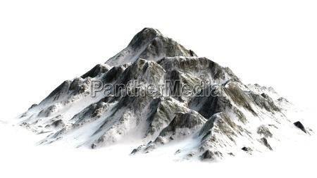 bello bella montagne punta innevate pallido