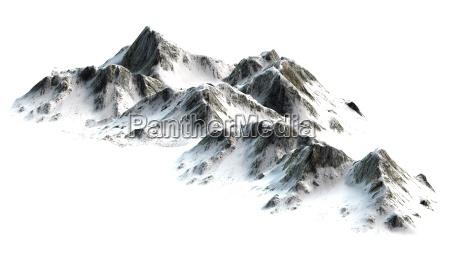 montagne innevate picchi di montagna separati
