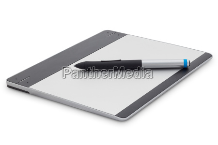 graphic tablet isolated on white background