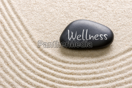pietra nera con iscrizione wellness