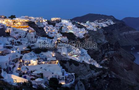 fotografia notturna grecia atmosfera serale luce