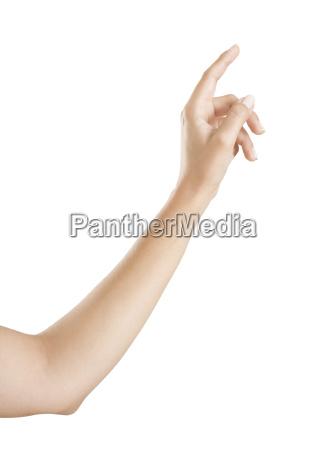 il dito indica qualcosa