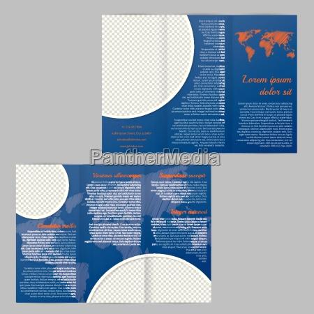 brochure flyer progettazione del modello con