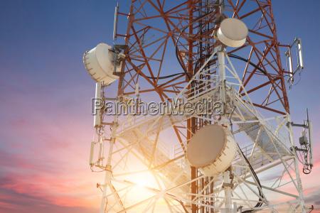 torre telefono cellulare spazio scienza tramonto
