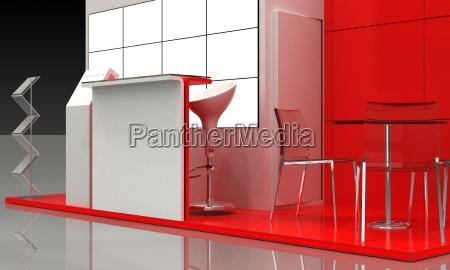 esempio di stand espositivo interno esterno