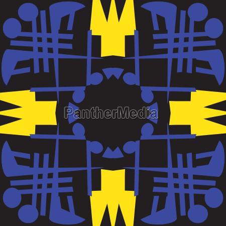 blu senza fine illustrazione astratto decorativo