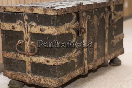 scatola antico scatola di legno baule