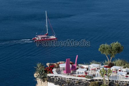 ristorante grecia sedie aperto barca a
