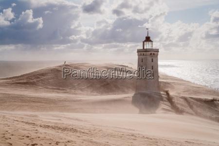 danimarca costa tempesta di sabbia segni