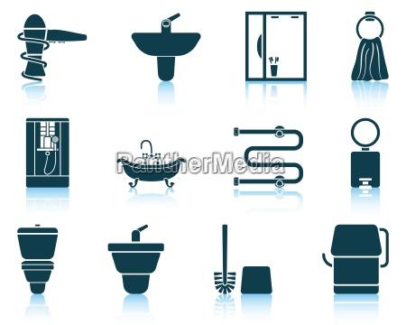 icona del set di bagni