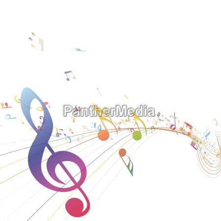 musica musicale illustrazione nota chiave vettore