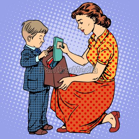 donna educazione arte fumetto moderno figlio