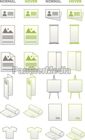 raccolta di icone media promozione affari