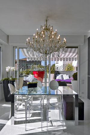 moderna sala da pranzo