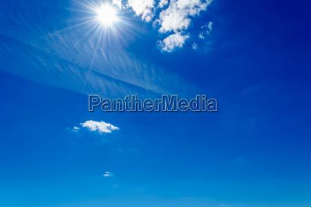 blu nuvole lucidi cielo firmamento luce