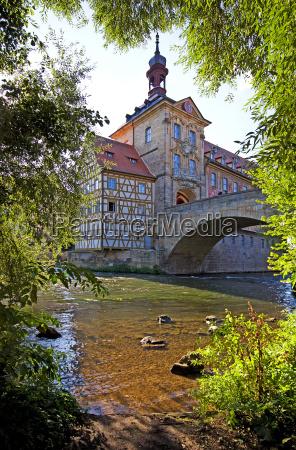 storico ponte municipio patrimonio germania bamberg