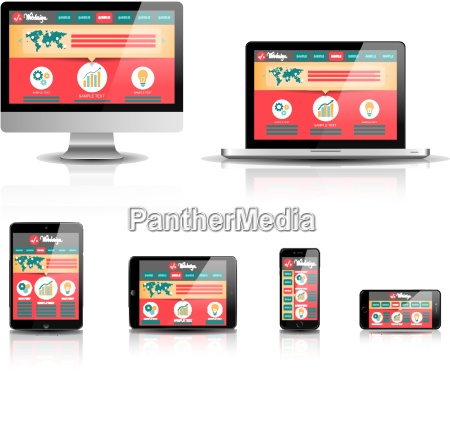 responsive web devices disegno vettoriale