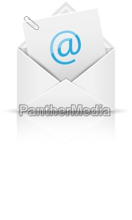 icona del email con lattaccamento busta