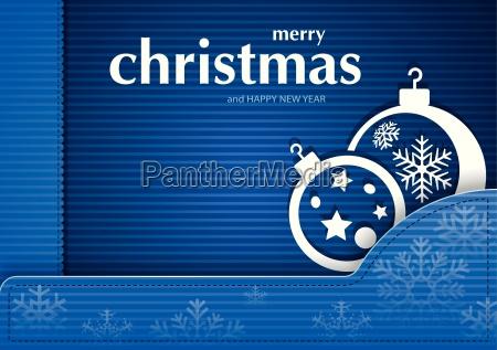 tarjeta azul navidad a rayas