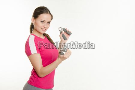 i muscoli della sportiva della mano