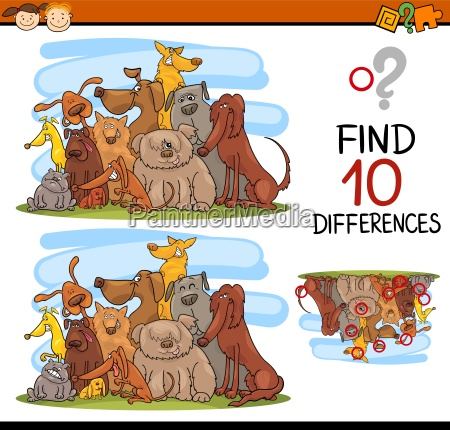 educazione cani illustrazione trovare scoperta fumetto