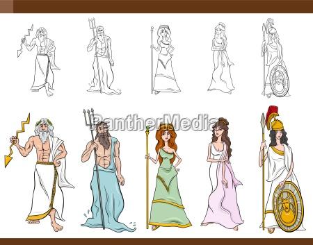 illustrazione del fumetto di divinita greche