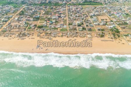 veduta aerea delle coste del cotonou