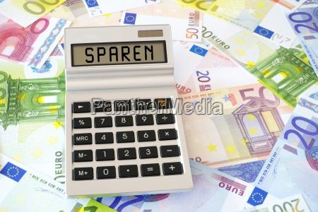 consumo risparmiare salva calcolatrice tascabile banconote
